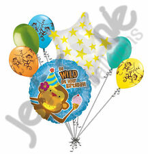 7 pc Wild Monkey Happy Birthday Balloon Bouquet Party Decoration Jungle
