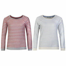 Marks and Spencer Cotton Long Sleeve Striped Jumpers & Cardigans for Women