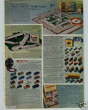 1968 PAPER AD Matchbox Build A Road 12 Car Rally Case Cigarbox Mini Traffic Game