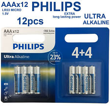 12x PHILIPS 1.5V AAA Ultra Alkaline Batteries LR03 AM4 R03 MICRO 1.5Volt Battery