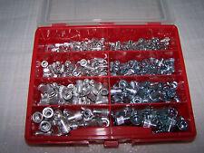 350tlg Nietmuttern Sortiment Alu und Stahl mit Flachkopf in einer Kunststoffbox
