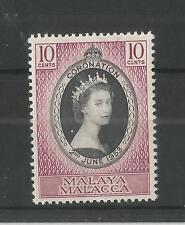 MALACCA 1953 CORONATION SG,22 U/M N/H LOT 2258A