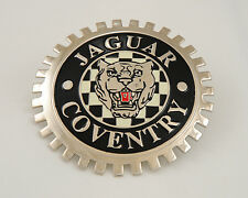 New Vintage Jaguar Coventry Grill Grille Badge- Chromed Brass- Great Gift Item!
