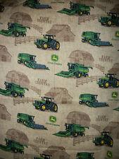 John Deere  Brown Farm Shadow With Tractor Fabric    18 X 42    Z2