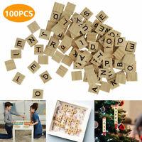 100/200/300Pcs Wood Scrabble Tiles New Scrabble Letters Wood Pieces Complete Set