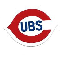 Vintage Chicago Cubs Unpeeled Oval Team Logo Sticker