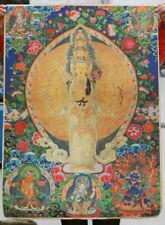 """36"""" Tibet Paper Thangka 1000 Arm Avalokiteshvara Kwan Yin Goddess"""