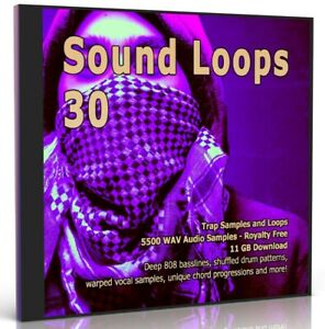 5500 Trap Loops Collection Beats WAV Loops Samples MPC Logic Ableton FL Studio