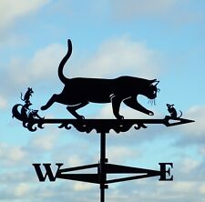 Cat and Mice Metal Weathervane Roof Mount Weather Vane Pussy and mouse FREE SHIP