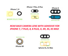 Lot Rear Back Glass Camera Lens with Adhesive for iPhone XS Max XR X 7 8 Plus