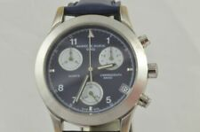 Maurice de Mauriac Men's Watch Quartz Chrono Steel With Leather Band