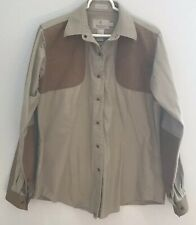 Women Browning For Her Shooting Button Shirt long sleeve Tan Brown Size XL