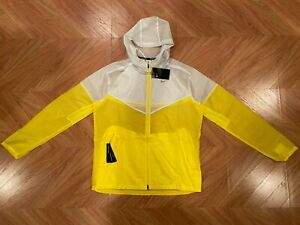 Nike Windrunner Yellow White Lightweight Running Jacket Men's Medium CK6341-731