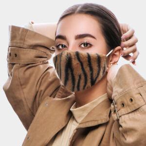 QUALITY FACE MASK Animal Print Zebra Fur Breathable Filter Pocket Rocks Boutique