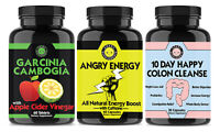 Weight Loss Garcinia w. Apple Cider Vinegar, Angry Energy, 10 Day Colon Cleanse