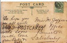 Genealogy Postcard - Jefferis? - Post Office - Bemerton - Salisbury - Ref 6465A