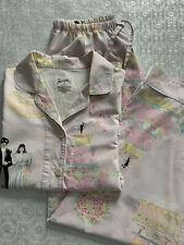 Nick & Nora Medium Bride Groom Wedding Cake Pajama Set Cotton 2-Piece Set Pink