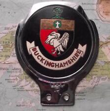 Used Chrome Car Mascot Badge : Buckinghamshire by Renamel B