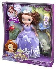 Disney First Talking Sofia Deluxe Doll and Animal Friends Speaks either Germa...