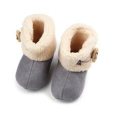 bebé recién nacido Suela Blanda Botas Cuerno Hebilla Polar Zapatos Cuna
