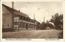 Friedrichsbrunn bei Thale im Harz, Hotel Schwarzer Adler, Ansichtskarte von 1931