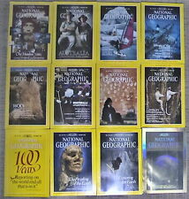 National Geographic Magazines Complete Year 12 Issues 1988