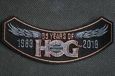 2018 HOG Members Rocker Patch HARLEY DAVIDSON OWNERS GROUP HD MC life