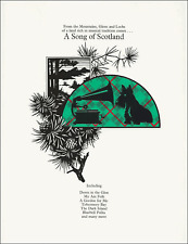 SCOTTISH SONGS For Piano & Voice Sheet Music Book Songbook Scotland Tunes