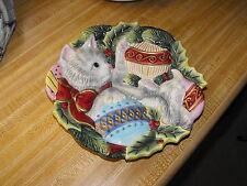 Fitz & Floyd Essentials Cat With Balls Decorative Plate
