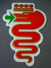 "Pair Alfa Romeo Serpent Decal-Vinyl Sticker  3.5""  85mm  FREE SHIPPING"