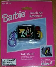 RARE BARBIE KEYCHAIN Lunch Kit w/ Thermos and Toy Snack 1999 MATTEL Really Works