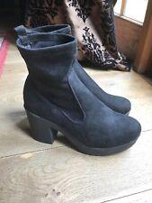 Ladies Black Platform Ankle Boots Size UK 9 EU 43 Excellent Conditiom