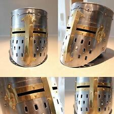 New Medieval Knight Crusader Armour Helmet Replica Reenactment FREE Liner z@#20