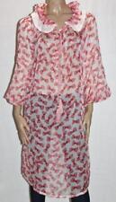 Unbranded Pink Chiffon Bow Skull Print Frill Collar Dress Size XL BNWT #sG104
