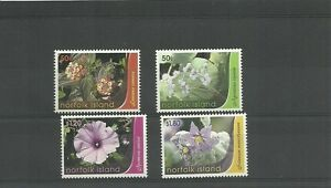 NORFOLK ISLANDS SG977-984 FLOWERS SET MNH