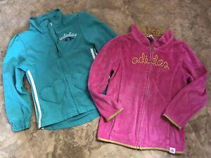 Girls Adidas Jackets Coats Lot Of 2 Size 6 Cute!
