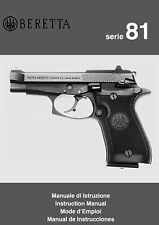 Beretta Model 81 Pistol Instruction and Maintenance Manual