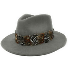 Womens Showerproof Wool Fedora Hat with Country Feather Wrap Trim - Chadlington