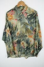 Vintage Mens 90S abstract crazy print festival shirt SIZE LARGE (C776)