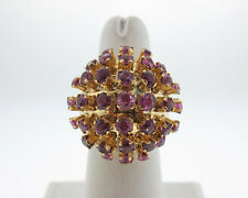 Estate 5.00cts Natural Ruby Solid 14k Yellow Gold Dome Cocktail Ring