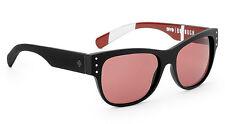 SPY Optic Borough Sunglasses Matte Black with Stripes Frame Burgundy Lens NEW!