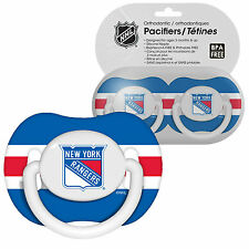 2 Pack Nhl New York Rangers Pacifier Set 3 months and up