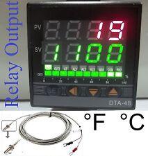 Professional PID Temperature Controller Oven Kiln °F°C Fahrenheit Relay out TC