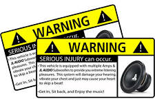 JL Audio Subwoofer BASS Stereo Warning Sticker Decal W0
