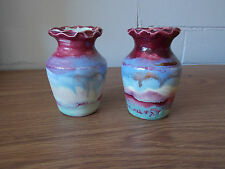 Vintage Antique Collectable Retro Art Deco Pottery Vases x 2