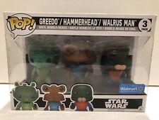 Funko Pop! Star Wars 3 Pack Greedo, Hammerhead, and Walrus Man Wal-Mart Excl.