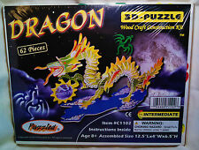 "3D PRE-COLORED WOOD PUZZLE ""DRAGON"" BY PUZZLED"