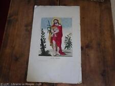 1780.Ecce homo Jésus.grande gravure 27/43cm (marges comprises).coloris anciens.