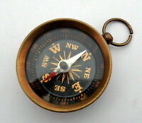 BRASS NAUTICAL STYLE COPPER ANTIQUE POCKET KEY CHAIN COMPASS HANDMADE STYLE GIFT