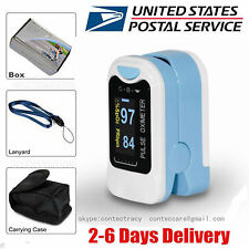 USA Seller Fingertip Pulse oximeter Spo2 Monitor Blood Oxygen OLED CMS50N blue